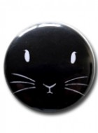 Button Badge Bunny Face