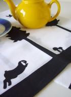 "Tenugui Towel ""Bunny and Friends"""