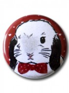 Button Badge Bow Tie Lop Bunny