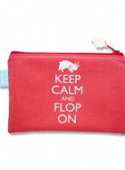 Zipper Pouch – Keep Calm and Flop On