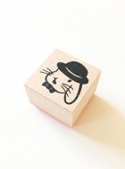 Rubber Stamp / Lop Bunny with Bowler hat
