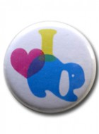 Button Badge I love Lop