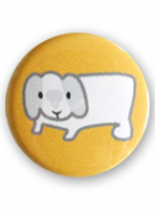 Button Badge – Pu the Bunny