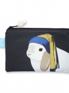 Zipper Pouch – Bunny with a Pearl Earring